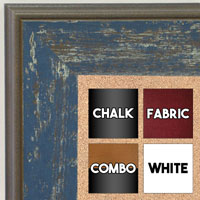 BB1734-2 | Distressed Denim | Custom Cork Bulletin Board | Custom White Dry Erase Board | Custom Chalk Board