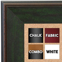 BB1734-4 | Distressed Evergreen | Custom Cork Bulletin Board | Custom White Dry Erase Board | Custom Chalk Board