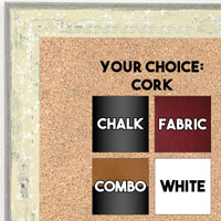 BB1735-1 | Distressed Oat | Custom Cork Bulletin Board | Custom White Dry Erase Board | Custom Chalk Board