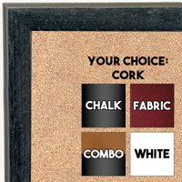 BB1735-5 | Distressed Black Granite | Custom Cork Bulletin Board | Custom White Dry Erase Board | Custom Chalk Board