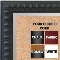 BB1747-2 | Distressed - Black Beads | Custom Cork Bulletin Board | Custom White Dry Erase Board | Custom Chalk Board