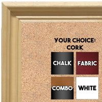 BB1753-1 | Unfinished Wood Frame | Unfinished Natural Wood Moulding - Paint or Stain | Custom Cork Board | Custom Chalk Board | Custom White Dry Erase Board