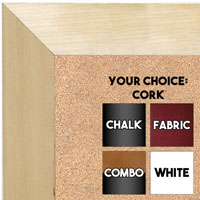 BB1763-1 | Unfinished Wood Frame | Unfinished Natural Wood Moulding - Paint or Stain | Custom Cork Board | Custom Chalk Board | Custom White Dry Erase Board