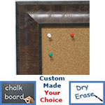 BB1782-2 | Distressed Medium Olive | Custom Cork Bulletin Board | Custom White Dry Erase Board | Custom Chalk Board