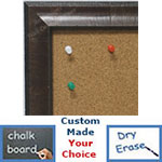 BB1783-2 | Distressed Medium Olive | Custom Cork Bulletin Board | Custom White Dry Erase Board | Custom Chalk Board