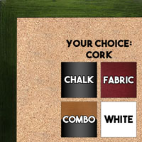 BB1543-11 Dark Green  - 3/4 Inch Wide X 3/4 Inch High - Small Custom Cork Chalk Dry Erase