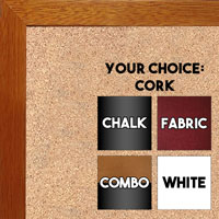 BB1843-2 Honey Maple - 3/4 Inch Wide X 3/4 Inch High - Small Custom Cork Chalk Dry Erase