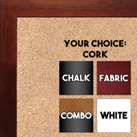 BB1543-3 Cherry - 3/4 Inch Wide X 3/4 Inch High - Small Custom Cork Chalk Dry Erase