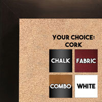 BB1844-1 Espresso Coffee Brown Large Wall Board Cork Chalk Dry Erase