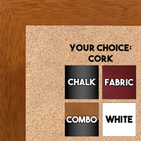 BB1844-2 Honey Maple Large Wall Board Cork Chalk Dry Erase
