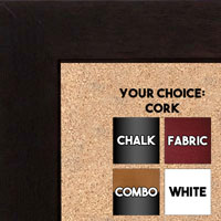 BB1845-1 | Coffee Brown | Custom Cork Bulletin Board | Custom White Dry Erase Board | Custom Chalk Board | Best Value