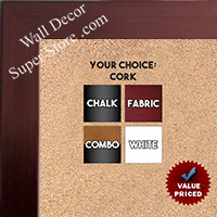 BB1846-1 | Bronze | Custom Cork Bulletin Board | Custom White Dry Erase Board | Custom Chalk Board