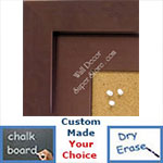 BB1847-1 | Bronze | Custom Cork Bulletin Board | Custom White Dry Erase Board | Custom Chalk Board