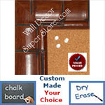 "BB1867-4 Rich Walnut Tropical Bamboo 2 7/8"" Value Priced Medium To Extra Large Custom Cork Chalk Or Dry Erase Board"
