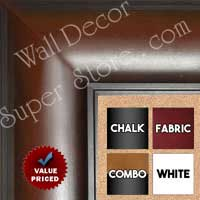 "BB1869-2 Walnut Brown 3"" Wide Value Priced Medium To Extra Large Custom Cork Chalk Or Dry Erase Board"