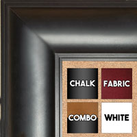 "BB1869-3 Matte Black 3"" Wide Value Priced Medium To Extra Large Custom Cork Chalk Or Dry Erase Board"