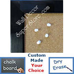 BB209-1 Black Finish Custom Cork Chalk or Dry Erase Board Medium To Large