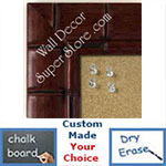 BB225-2 Walnut Bamboo Medium To Extra Large Custom Cork Chalk Or Dry Erase Board