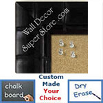 BB225-4 Dark Expresso Coffee Medium To Extra Large Custom Cork Chalk Or Dry Erase Board