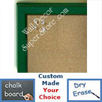 BB234-3 Green With Bevel Small Custom Cork Chalk or Dry Erase Board