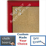 BB234-5 Red With Bevel Small Custom Cork Chalk or Dry Erase Board