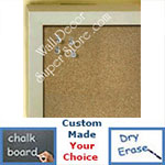 BB235-11 Light Silver Small Custom Cork Chalk or Dry Erase Board