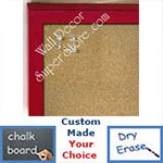 BB235-13 Dark Red  Small Custom Cork Chalk or Dry Erase Board