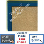 BB235-4 Blue Small Custom Cork Chalk or Dry Erase Board
