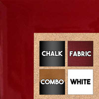 BB321-3 High Gloss Red Lacquer Medium To Extra Large Custom Cork Chalk Or Dry Erase Board