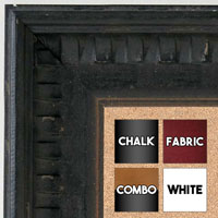 BB5207-2 Aged Black With Light Gold Accent Distressed Piano Medium To Extra Large Custom Cork Chalk Or Dry Erase Board