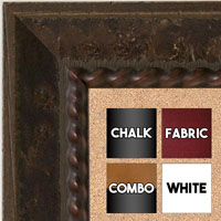 BB5208-1 Chestnut Burl Wood Brown Rope Design Medium To Extra Large Custom Cork Chalk Or Dry Erase Board