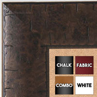 BB5211-2 Chestnut Espresso Distressed Burl Wood Medium To Extra Large Custom Cork Chalk Or Dry Erase Board