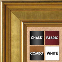 BB5230-1 Classic Gold Medium To Extra Large Custom Cork Chalk Or Dry Erase Board