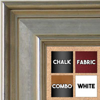 BB5230-2 Classic Silver Medium To Extra Large Custom Cork Chalk Or Dry Erase Board
