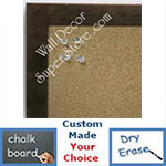 BB6224-3 Distressed Bronze Small To Medium Custom Cork Chalk or Dry Erase Board