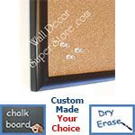 BB11-1 Roll Top  Matte Black Small Custom Cork Chalk or Dry Erase Board