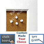 BB21-201 | White | Custom Cork Bulletin Board | Custom White Dry Erase Board | Custom Chalk Board