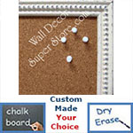 BB25-1 Soft Antique White With Beads Small To Medium Custom Cork Chalk or Dry Erase Board