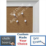 BB45-1 White With Scoop Design Small To Medium Custom Cork Chalk or Dry Erase Board