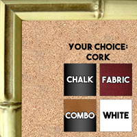 BB57-1 Cream Bamboo Small To Medium Custom Cork Chalk or Dry Erase Board