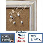 BB58-1 Distressed Whitewash Custom Cork Chalk or Dry Erase Board Medium To Extra Large
