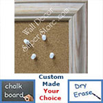 BB60-1 Distressed Beige Wash Custom Cork Chalk or Dry Erase Board Medium To Extra Large
