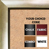 BB70-3 Silver With Black Insert Small To Medium Custom Cork Chalk or Dry Erase Board