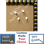 BB76-1 Bronze Leaf Beaded Frame Small To Medium Custom Cork Chalk or Dry Erase Board