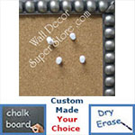 Pewter Cork Chalk Dry Erase Boards