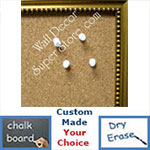 BB85-1 Antique Gold With Beads Small Custom Cork Chalk or Dry Erase Board