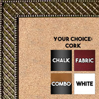 BB86-1 Antique Gold Thatched Design Small To Medium Custom Cork Chalk or Dry Erase Board