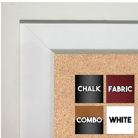 BB92-1 Matte White Raised Outside Custom Cork Chalk or Dry Erase Board Medium To Extra Large