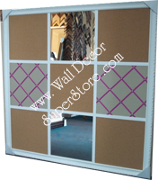 Custom combination french bulletin boards - design the style to fit your home or office