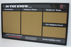 custom corporate  information boards